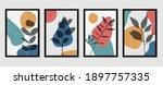 botanical wall art vector set....   Shutterstock .eps vector #1897757335