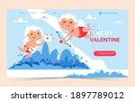 valentine cupid love angel... | Shutterstock .eps vector #1897789012