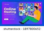 illustrations flat design... | Shutterstock .eps vector #1897800652