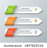 arrow infographic template with ... | Shutterstock .eps vector #1897829218