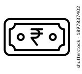 indian currency line icon...   Shutterstock .eps vector #1897837402
