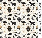 seamless pattern of mystical... | Shutterstock .eps vector #1897843648