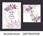 wedding invitation card with...   Shutterstock .eps vector #1897844548