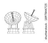 radar. directional radio...   Shutterstock .eps vector #1897844725