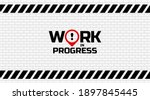 warning sign. work in progress... | Shutterstock .eps vector #1897845445