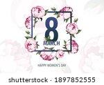 international women's day  8...   Shutterstock .eps vector #1897852555