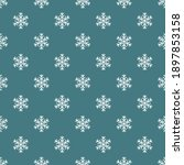 snowflakes on blue background...   Shutterstock .eps vector #1897853158