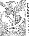 hippogriff greek mythological... | Shutterstock .eps vector #1897853872
