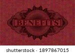 benefits text inside currency...   Shutterstock .eps vector #1897867015
