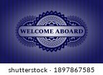 welcome aboard text inside blue ...   Shutterstock .eps vector #1897867585