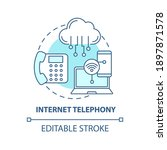 internet telephony concept icon.... | Shutterstock .eps vector #1897871578