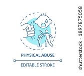 physical abuse turquoise... | Shutterstock .eps vector #1897875058