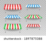 outdoor striped awning canopy...   Shutterstock .eps vector #1897875388