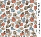 vector seamless pattern with... | Shutterstock .eps vector #1897881082