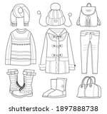Collection Of Winter Clothes ...