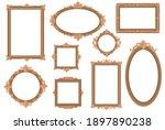 ornate empty golden borders...   Shutterstock .eps vector #1897890238