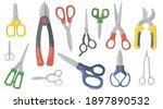 creative scissors  shears and... | Shutterstock .eps vector #1897890532