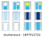 transparent windows and sunny... | Shutterstock .eps vector #1897912732