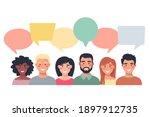 people avatars with speech... | Shutterstock .eps vector #1897912735