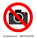 photography prohibited sign ... | Shutterstock .eps vector #1897944295