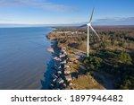 Aerial View Of Liepaja Northern ...