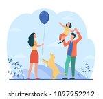 happy parents with daughter... | Shutterstock .eps vector #1897952212