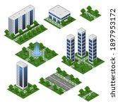 3d city modern buildings....   Shutterstock .eps vector #1897953172