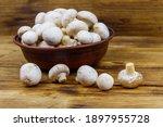 Fresh Champignon Mushrooms In...