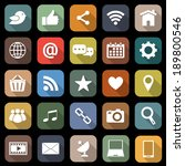 social media flat icons with...