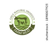 label of farm animals cow ...   Shutterstock .eps vector #1898007925