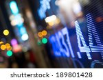 display of stock market quotes  | Shutterstock . vector #189801428