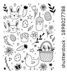 set of easter design elements.... | Shutterstock .eps vector #1898027788