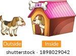 opposite adjectives words with... | Shutterstock .eps vector #1898029042