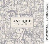 vector banner or antique frame... | Shutterstock .eps vector #1898033638