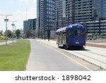 Famous Melbourne's City Circle tram (CBD, Melbourne, Australia) - stock photo