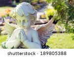 angel figure in a cemetery  ... | Shutterstock . vector #189805388