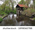 Old Abandoned Waterwheel On...