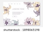 landing page template with hand ...   Shutterstock .eps vector #1898065198