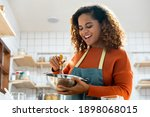 young african american woman... | Shutterstock . vector #1898068015