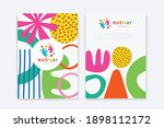 kids arts logo and stationery... | Shutterstock .eps vector #1898112172