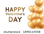 valentine's card with gold... | Shutterstock .eps vector #1898114548