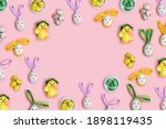 Easter Frame From Bunny Rabbit...