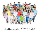 large group of people   Shutterstock . vector #189813506