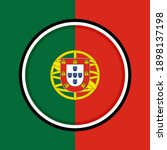 button icon with portugal flag | Shutterstock .eps vector #1898137198
