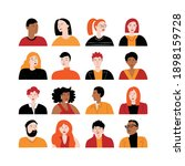set of avatars with different... | Shutterstock .eps vector #1898159728