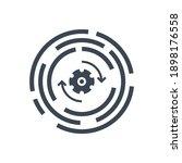 update related glyph icon....   Shutterstock . vector #1898176558