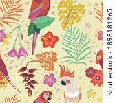 Hawaiian Pattern With Exotic...