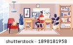 man working in modern home... | Shutterstock .eps vector #1898181958