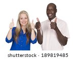 young mixed couple black man... | Shutterstock . vector #189819485