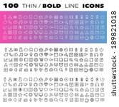 thin line icons set... | Shutterstock .eps vector #189821018